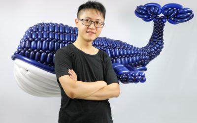 「台灣藍鯨」驚豔國際!宋俊霖折氣球 美國大賽奪冠