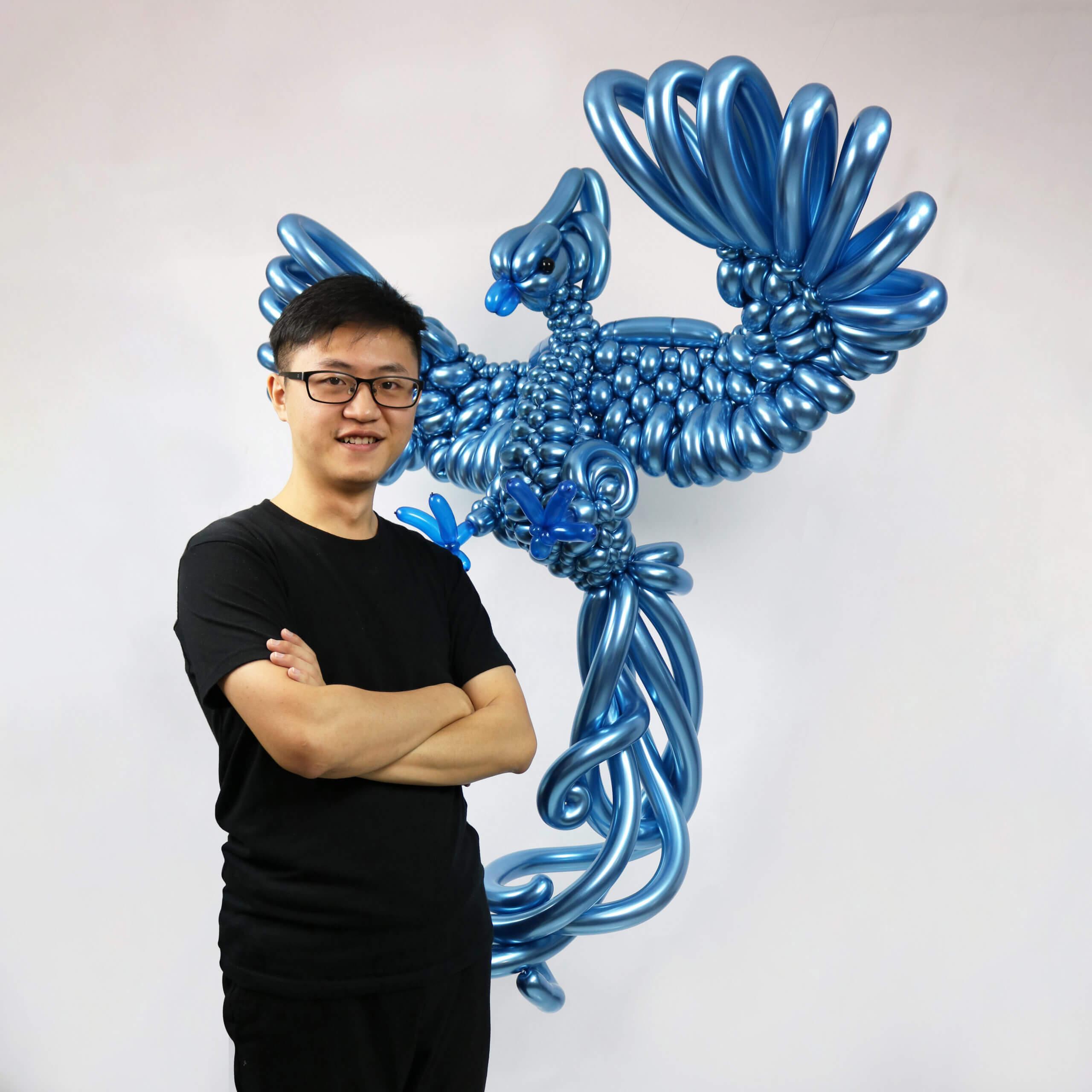 金屬藍色冰鳥