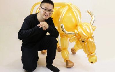 過年閒閒沒事,來折隻氣球金牛給阿嬤當驚喜!