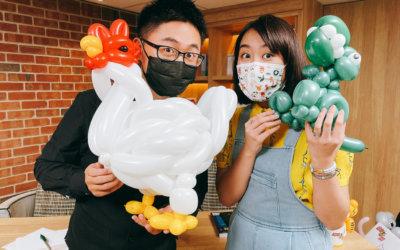 氣球就像畫筆,我想創作更多可能性!超牆 Tuesday 商周直播採訪